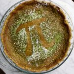 April Williams bakes a green tea pie for Pi Day 2016!